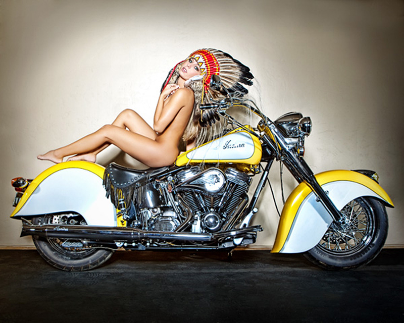 Indian Motorcycle with Model
