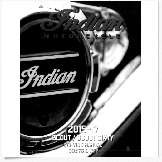 2015-2017 Indian Motorcycle Scout Service Manual