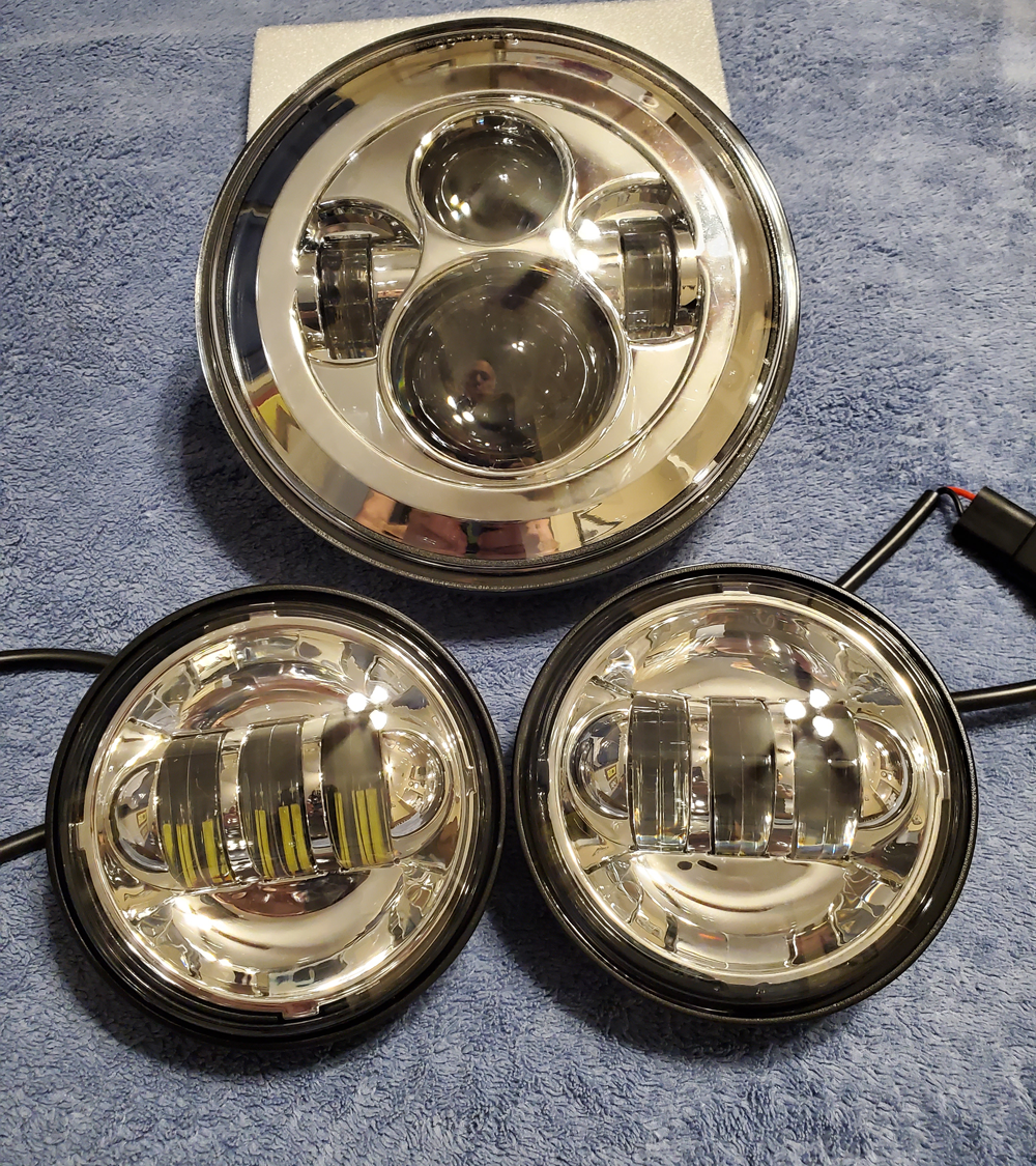 7 Inch LED Headlight with 4.5 Fog Light Set